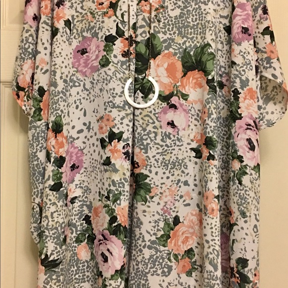 California Love Dresses & Skirts - Floral and Leopard Dress - Tunic style